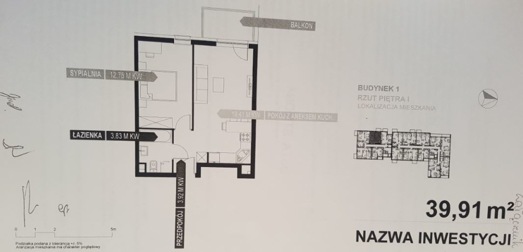 rzut mieszkania -zorska